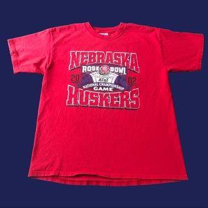 VTG 2002 Nebraska Huskers Rose Bowl Tee